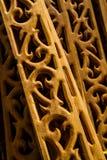 Scultura tailandese di legno Fotografia Stock