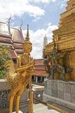 Scultura tailandese a Wat Phra Kaeo, Bangkok immagini stock libere da diritti