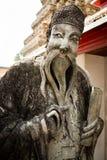 Scultura in tempio di Wat Pho Immagini Stock Libere da Diritti