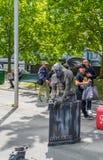 Scultura in tensione del doccione a Southbank a Melbourne, Australia Fotografia Stock