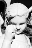 Scultura triste di angelo Fotografia Stock