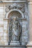 Scultura in un'allegoria della fontana di neobarochnogo del posto adatto del Danu Immagini Stock Libere da Diritti