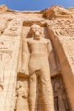 Sculture Abu Simbel fotografia royalty free