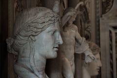 Sculture alla galleria Borghese Fotografia Stock Libera da Diritti