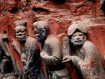 Sculture antiche Cina di Dazu Immagine Stock Libera da Diritti
