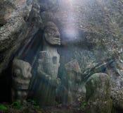 Sculture antiche del totem Immagini Stock Libere da Diritti
