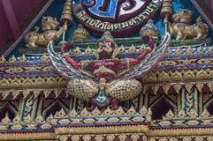 Sculture buddisti della creatura mistica all'interno di un tempio buddista Fotografia Stock Libera da Diritti