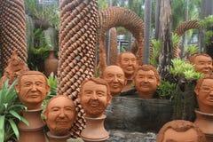 Sculture ceramiche del parco Immagini Stock Libere da Diritti