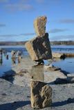 Sculture d'equilibratura Fotografia Stock