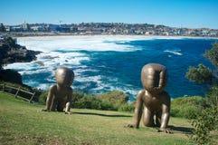 Sculture dal mare, spiaggia di Bondi, Sydney, Australia Immagini Stock
