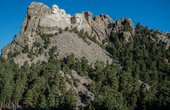 Sculture dei presidenti al monte Rushmore Immagini Stock Libere da Diritti