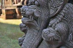 Sculture del fronte del ferro del mostro Fotografia Stock Libera da Diritti