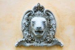 Sculture del leone Fotografie Stock Libere da Diritti