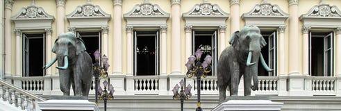 Sculture dell'elefante nel grande ¼ ŒThailand di Palaceï Fotografia Stock Libera da Diritti