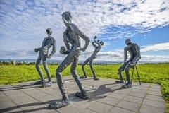 Sculture dell'Islanda con forma umana fotografia stock libera da diritti