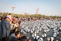 1.600 sculture della cartapesta dei panda saranno esibite a Bangkok Fotografia Stock Libera da Diritti