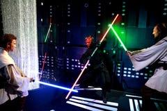 Sculture della cera dei caratteri di Star Wars Fotografia Stock Libera da Diritti