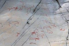 Sculture della roccia in Alta Finnmark Immagine Stock