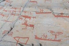 Sculture della roccia in Alta, Norvegia Fotografie Stock Libere da Diritti