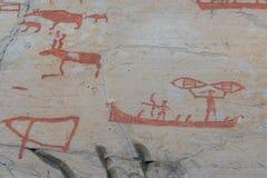Sculture della roccia in Alta Norway Fotografie Stock Libere da Diritti