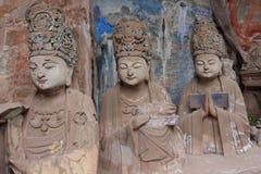 Sculture della roccia della montagna di Dazu Bao Ding immagine stock libera da diritti