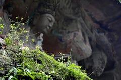 Sculture della roccia di Dazu Fotografie Stock