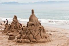 Sculture della sabbia Fotografie Stock