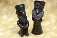 Sculture di argilla nere degli ebrei dall'Etiopia Fotografie Stock