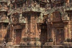 Sculture di Banteay Srei fotografie stock libere da diritti