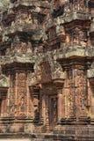Sculture di Banteay Srei fotografia stock
