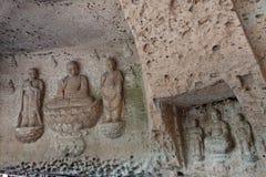 Sculture di Buddha al tempio di ji di Oya vicino ad Utsunomiya nel Giappone immagini stock