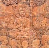 Sculture di Buddha nel tempio Fotografia Stock