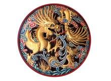 Sculture di Dragon Wood Immagini Stock