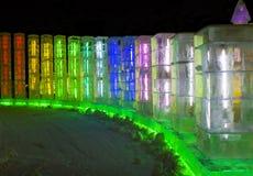Sculture di ghiaccio al ghiaccio di Harbin ed al mondo della neve a Harbin Cina Immagine Stock