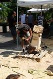 Sculture di legno in tensione con il ` Art Settala - MI di Prem - l'Italia Fotografie Stock