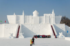 Sculture di neve al ghiaccio di Harbin ed al festival della neve a Harbin Cina Fotografia Stock