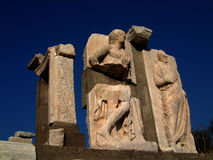 Sculture di pietra dalle rovine di Ephesus Immagini Stock Libere da Diritti