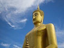 Sculture dorato di Buddha Fotografia Stock