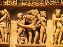 Sculture erotiche intagliate pietra Immagini Stock Libere da Diritti