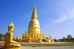 Sculture golden and sharp pagoda Stock Photos