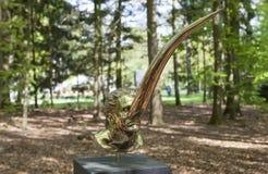 Sculture mistiche da Jan Fabre sotto il nome dei CAPITOLI I - XVIII Park De Hoge Veluwe Otterlo netherlands fotografia stock
