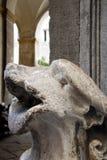 Sculture nel palazzo di Napoli Fotografie Stock