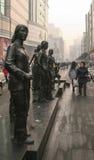 Sculture nella via, Chengdu, porcellana fotografia stock libera da diritti