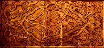 Sculture ornamentali arabe colorate Fotografia Stock
