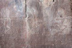 Sculture sulla parete di Angkor Wat Temple Fotografia Stock