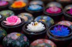 Sculture tailandesi del fiore del sapone Fotografie Stock