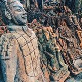 Scultures Buddha i wojownik zdjęcia royalty free