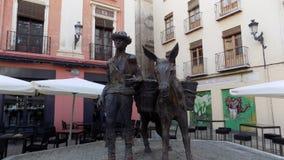 Scultures i ett hörn av Granada Royaltyfria Bilder