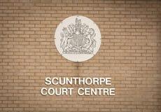 Scunthorpehof Centrumteken - Scunthorpe, Lincolnshire, het Verenigd Koninkrijk - 23 Januari 2018 stock foto