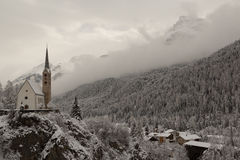 Scuol in Switzerland Royalty Free Stock Photography